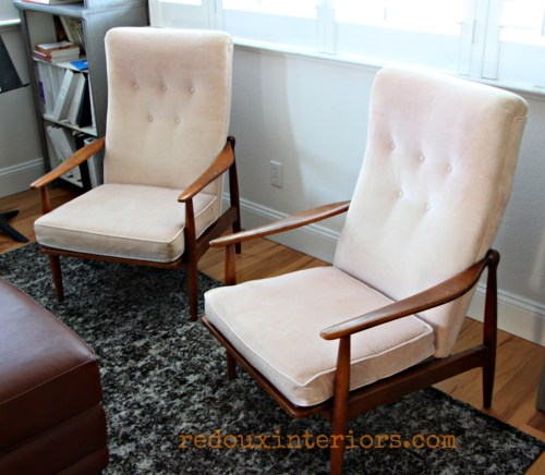Dumpster found midcentury chairs redouxinteriors