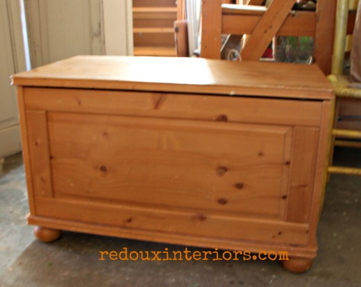 dumpster found wood trunk redouxinteriors