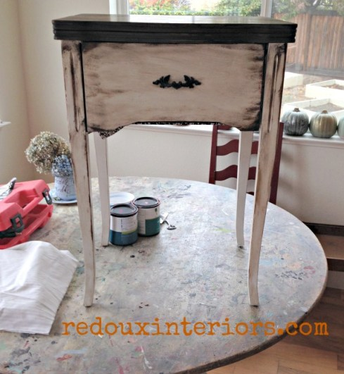 Sewing Cabinet makeover before redouxinteriors