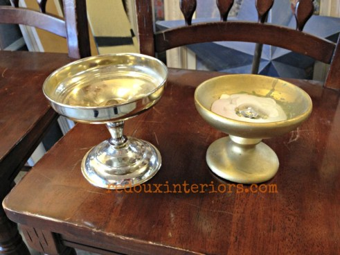 dumpster found candle holders redouxinteriors