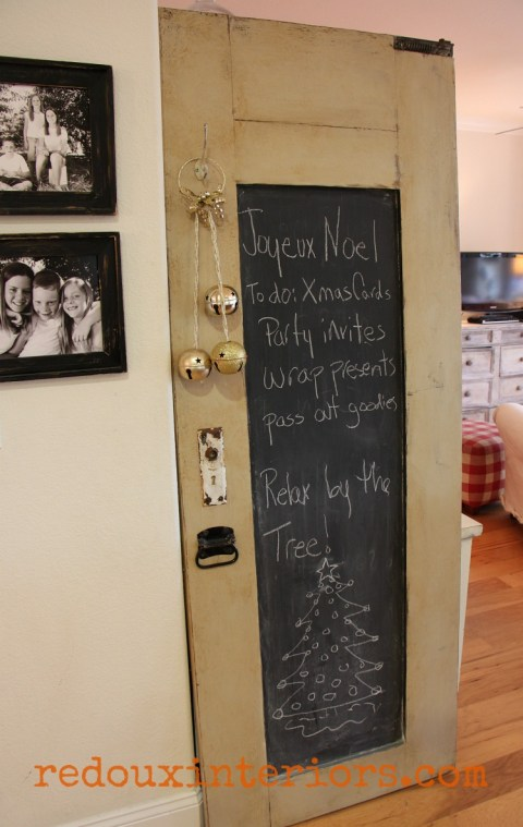 Redouxinteriors Holiday home tour chalkboard door