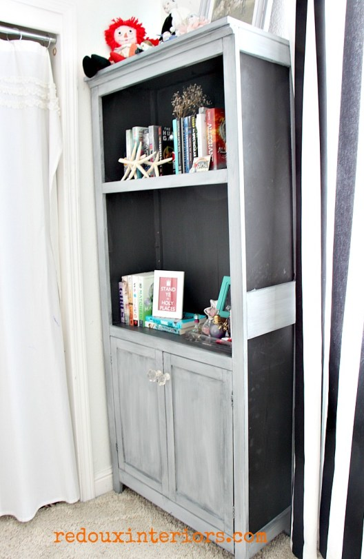 Silverhill fog vermont slate and chalkboard bookshelf redouxinteriors