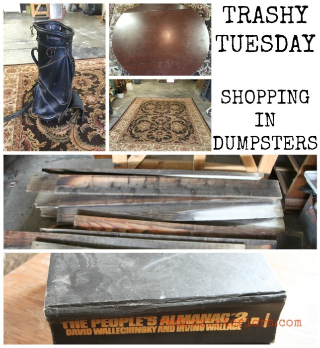 Rug golf bag table top dumpster shopping redouxinteriors
