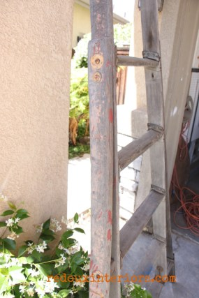 Chippy old wood ladder dumpster dove redouxinteriors