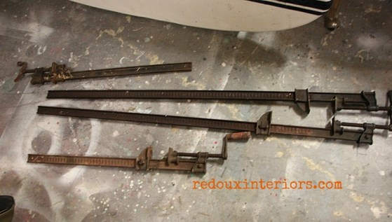 metal clamps found for free redouxinteriors