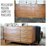 midcentury modern buffet before and after redouxinteriors