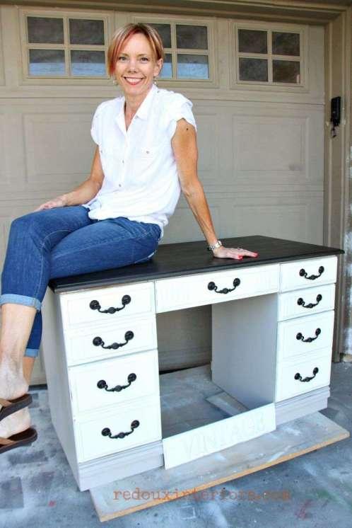 Vintage Industrial Dumpster Desk with Karen redouxinteriors
