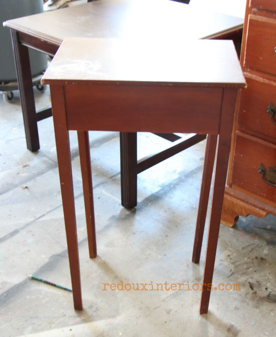 small table found in a dumpster redouxinteriors