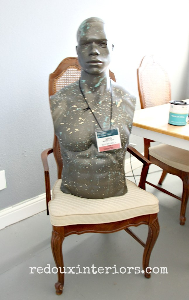 mannequin with free chairs redouxinteriors