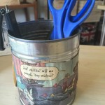 recycled can used as pen holder redouxinteriors