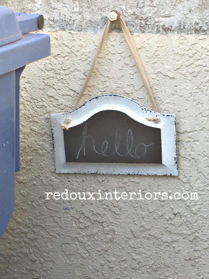 Dumpster Found Hello Sign redouxinteriors