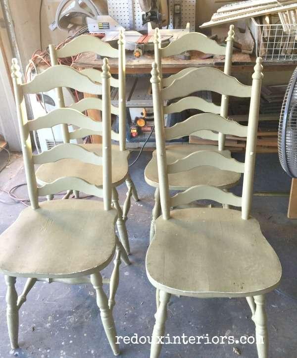 Free Green chairs redouxinteriors