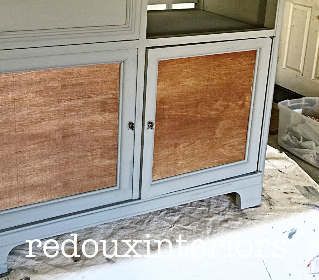 Sneak peek of stereo cabinet makeover redouxinteriors