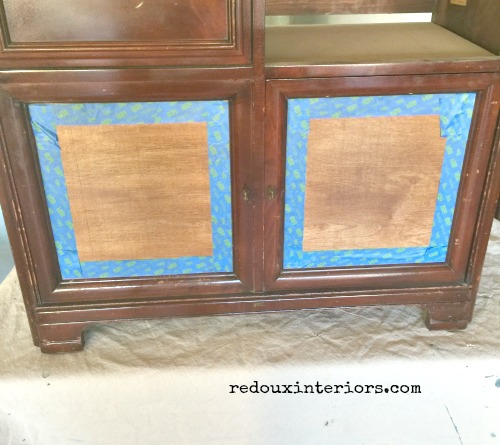 Vintage Stereo Cabinet new luon panels redouxinteriors