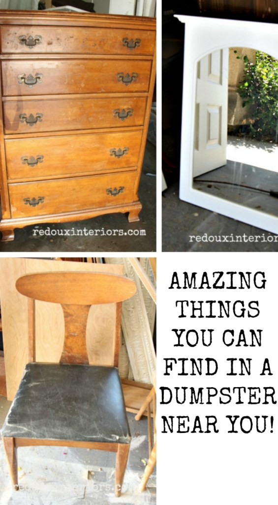 Amazing things you can find in a dumpster redouxinteriors