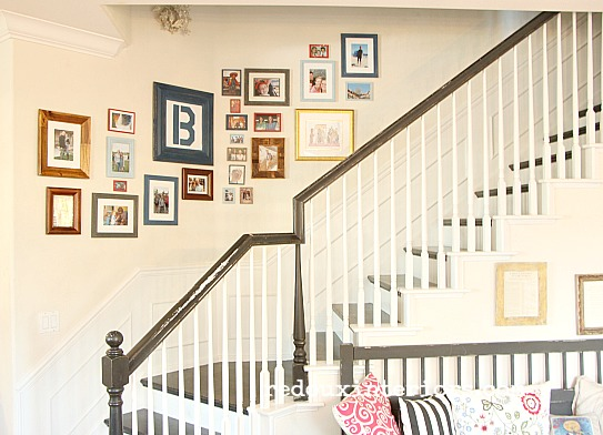DIY Picture Gallery Wall cheap frames redouxinteriors
