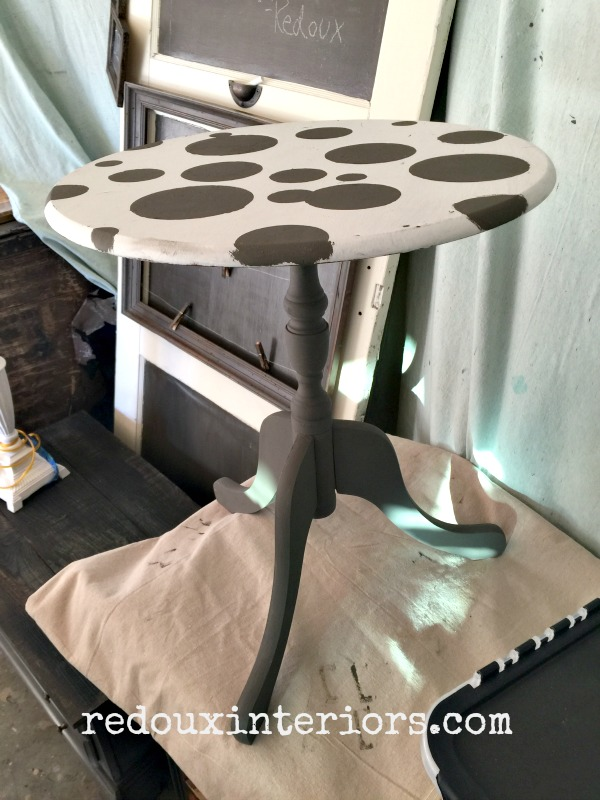 Side Table not finished DIY Paint redouxinteriors