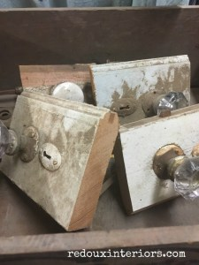 Antique Door knobs junk dig redouxinteriors