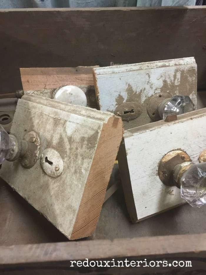Antique Door knobs junk dig redouxinteriors