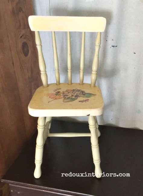 Child's chair found in garbage redouxinteriors