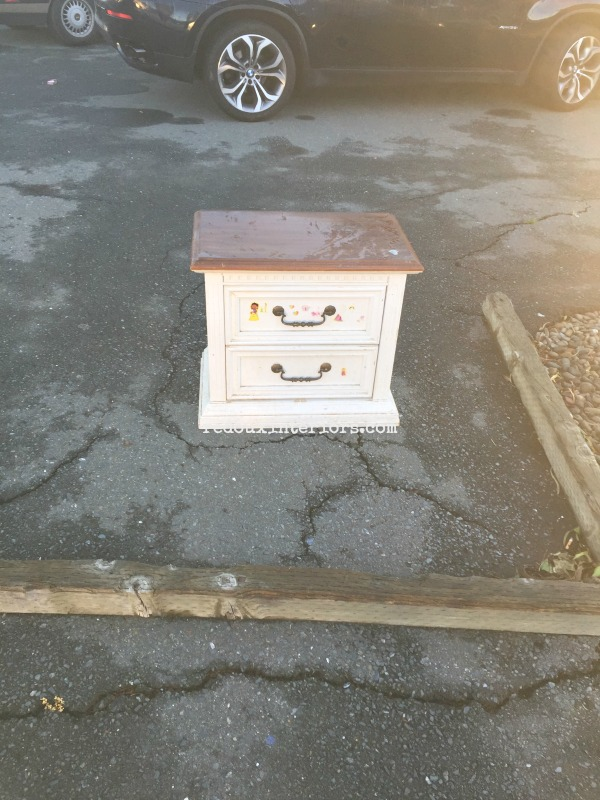 Free Nightstand found on curb redouxinteriors
