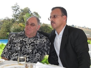 Awad Abdel Fattah with Ronnie Kasrils