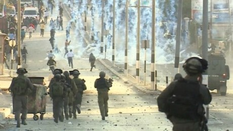 Israelis attack Bethlehem with tear gas