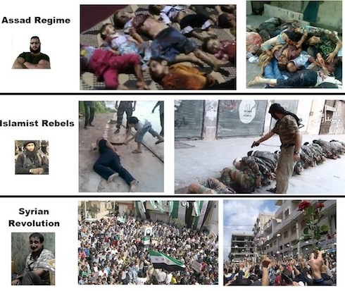 Syrian people vs Assad tyranny and Islamist thugs