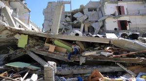 Gaza homes in ruin