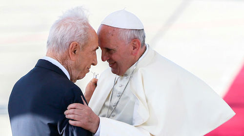 Pope Francis and Shimon Peres