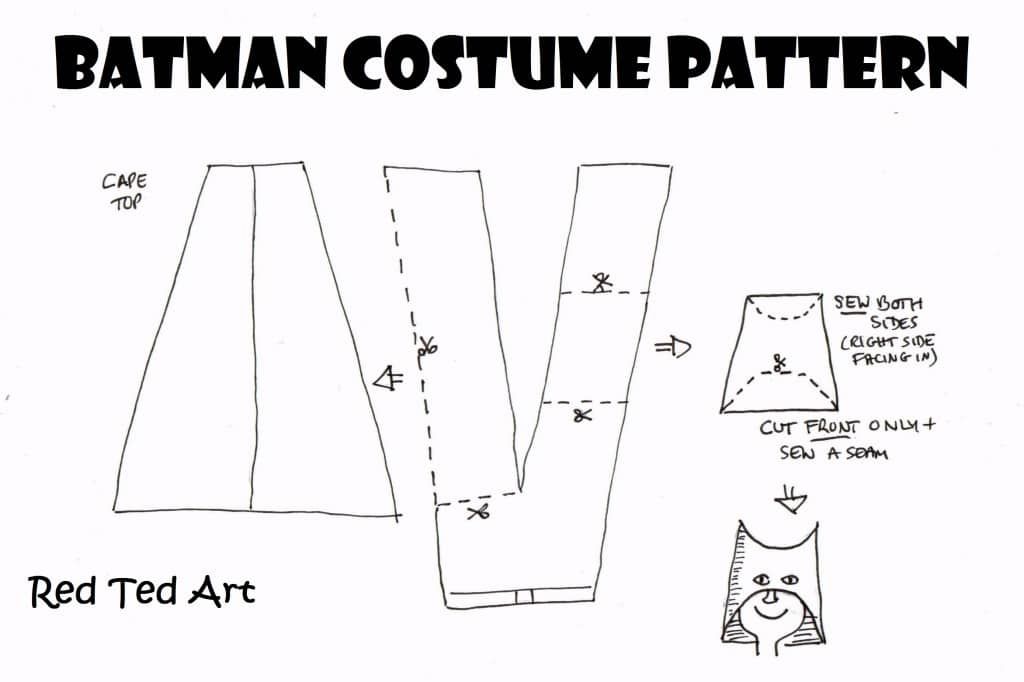 How to Make an (Upcycled) Batman Costume - Red Ted Artu0027s Blog - problem report