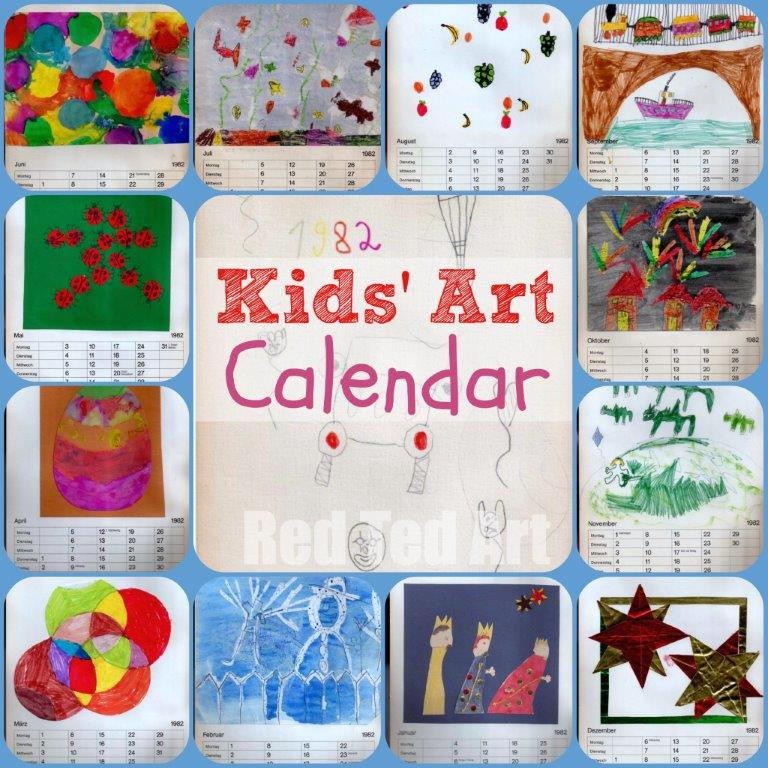 Kids\u0027 Art Calendar Gifts That Kids Can Make - Red Ted Art\u0027s Blog