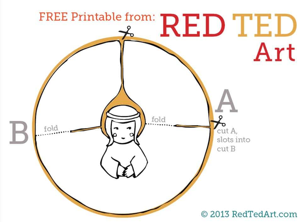 Paper Angel Printable - Red Ted Art\u0027s Blog - angels templates free