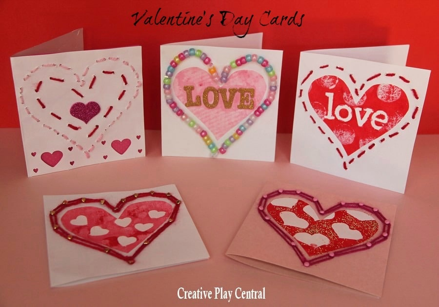 Valentine\u0027s  Sewing  Threading - Red Ted Art\u0027s Blog