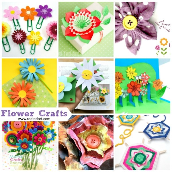 Flower Craft Ideas- wonderful spring, summer \ Motheru0027s Day ideas - note paper template