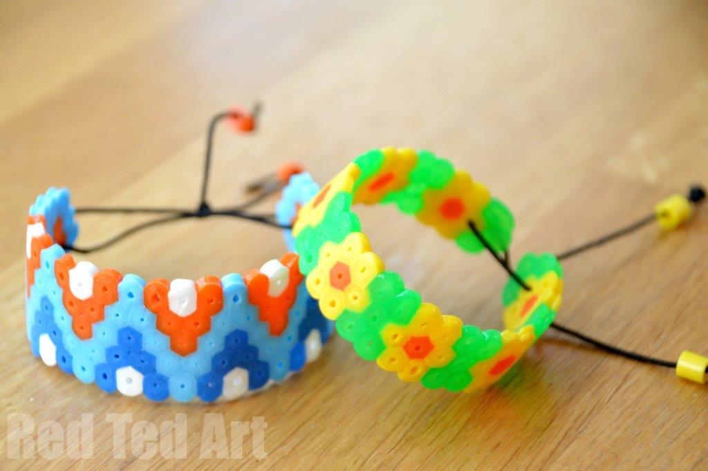 Hama Bead Perler Bead Bracelets Red Ted Art39s Blog