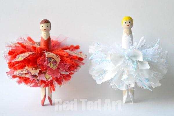 Pom Pom Dolly Peg Fairies Red Ted Art39s Blog