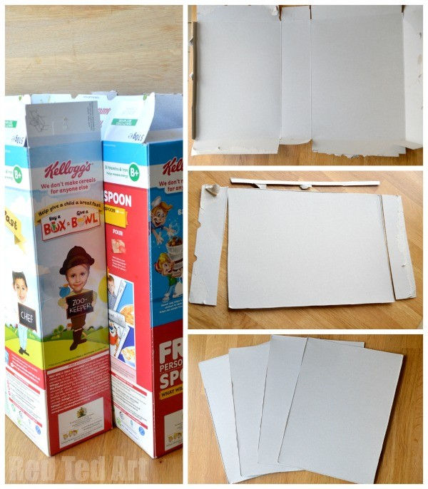 Cereal Box to Foldable Doll\u0027s House DIY (perfect take along house