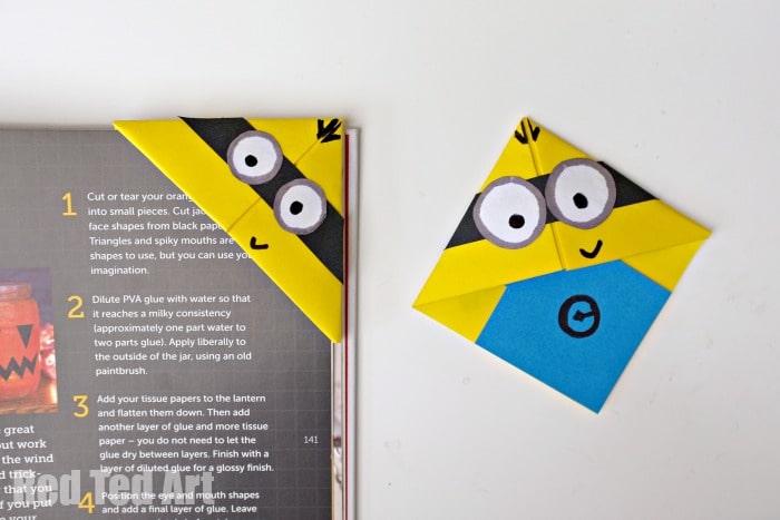 Minion Crafts - Corner Bookmarks - Red Ted Art\u0027s Blog