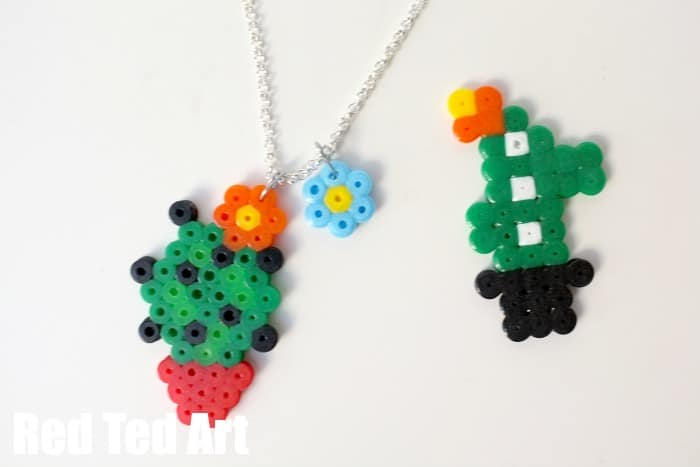 Cactus Crafts Hama Bead Jewellry Red Ted Art39s Blog