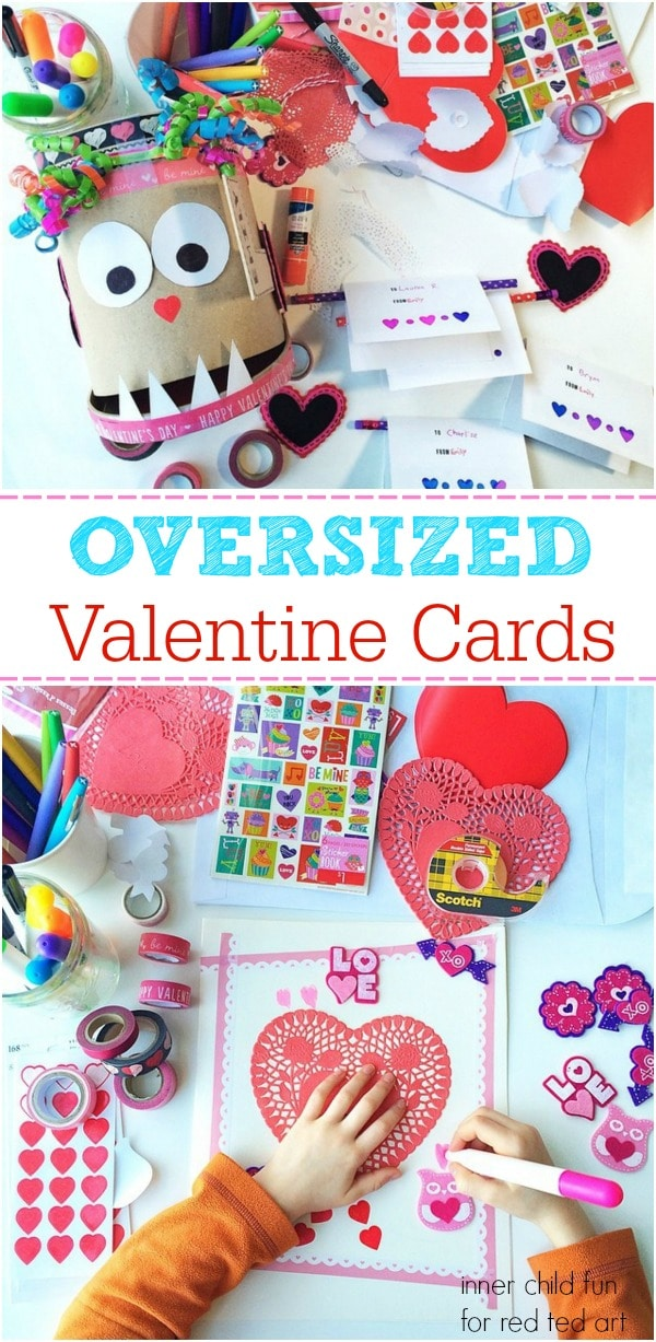 Giant Valentine\u0027s Day Cards for Kids - Red Ted Art\u0027s Blog