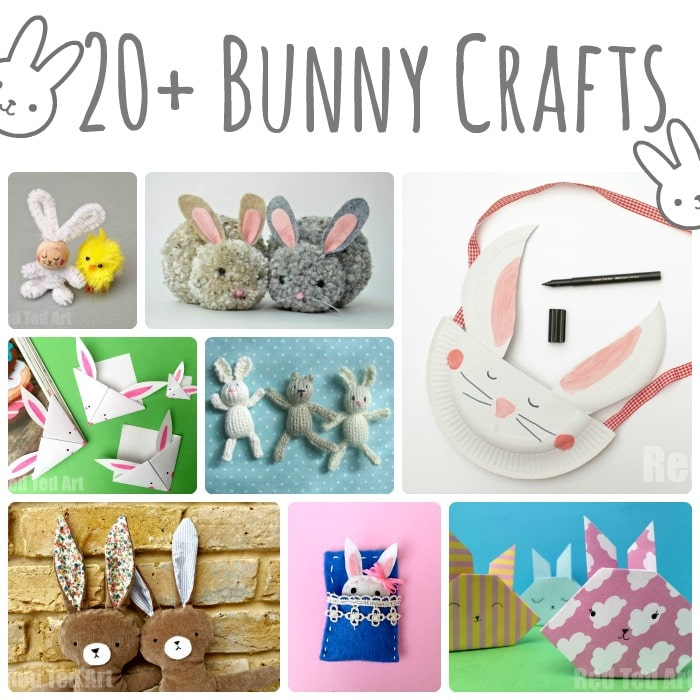 20+ Cute Bunny Crafts for Kids - Red Ted Art\u0027s Blog