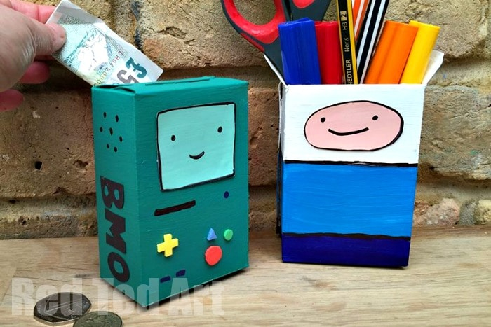 Adventure Time Craft Desk Tidy Money Box Red Ted Art