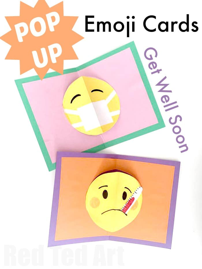 Easy Emoji Pop Up Card DIY - Red Ted Art\u0027s Blog
