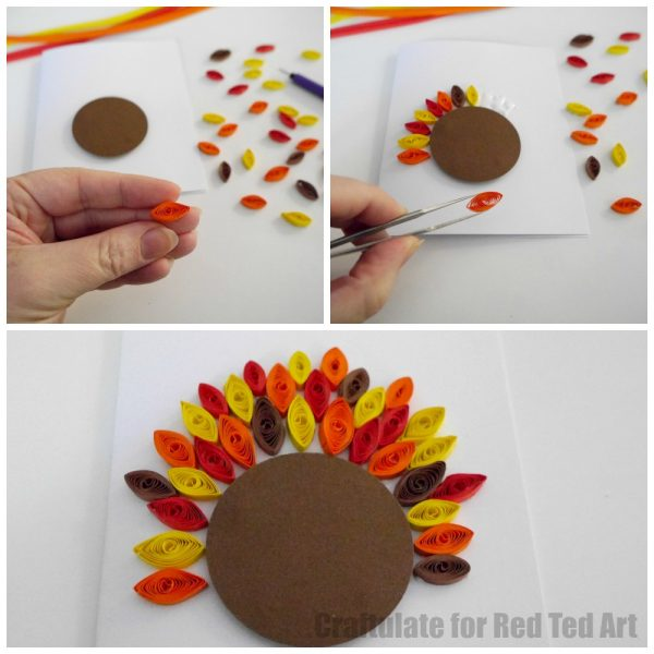 Quilled Thanksgiving Cards for Kids - Red Ted Art\u0027s Blog