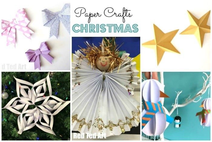 Christmas Paper Crafts For Kids Red Ted Art39s Blog