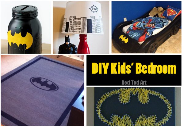 Easy Batman DIY Ideas - Red Ted Artu0027s Blog - batman bedroom ideas