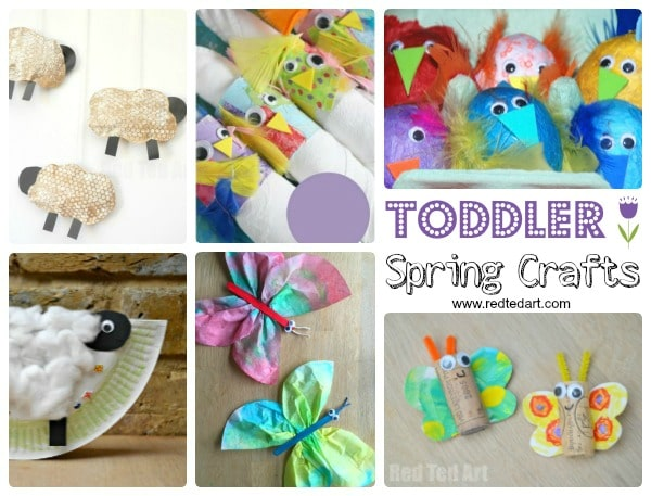 Easy Spring Crafts for Preschoolers and Toddlers - Red Ted Art\u0027s Blog - photo of spring
