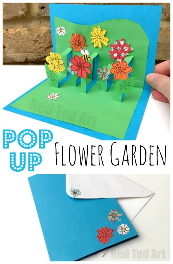 3D Flower Card DIY - Pop Up Cards for Kids - Red Ted Art\u0027s Blog