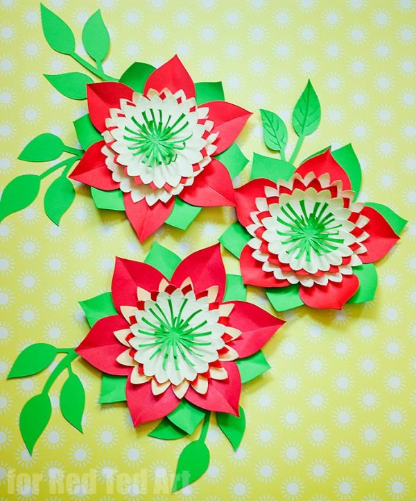 Pretty Paper Flowers DIY including Template - Red Ted Art\u0027s Blog